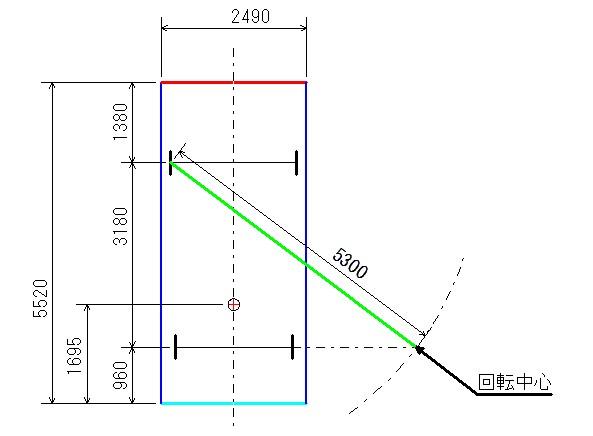 旋回軌跡図2