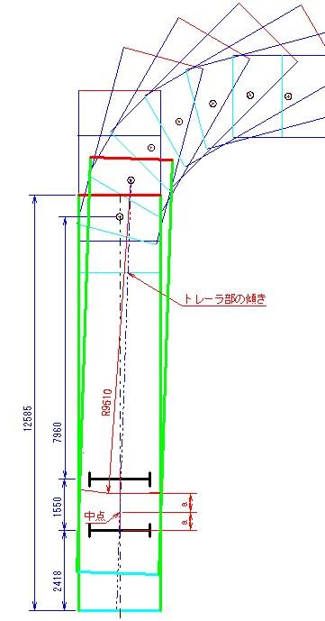 旋回軌跡図9