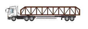 自動車運搬用セミトレーラー