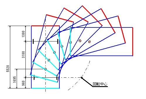 旋回軌跡図4